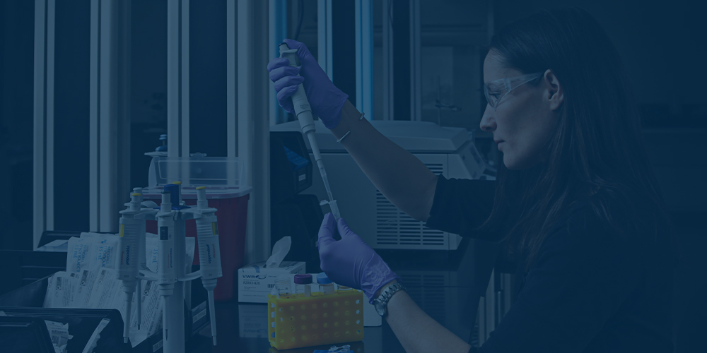 Employee performing labwork for cannabis staffing